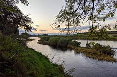 River Tweed at Wark, Northumberland, Oct 2019 (alljengi) Tags: northumberland england englishborder wark warkontweed river rivertweed sunset