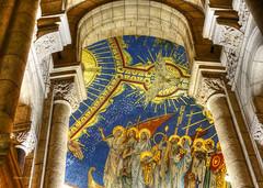 Sacre Coeur (albyn.davis) Tags: montmartre paris france europe church cathedral interior arches architecture colors blue gold light perspective