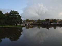 The weather that was (Phil Gayton) Tags: water grass tree boat building sky cloud reflection vire island river dart bridgetown steamer quay totnes devon uk