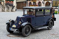 Renault NN2-Berline 1929 (Corno3) Tags: auto deutschland grau oldtimer markt harz fahrzeug wernigerode sachsenanhalt rathausrallay