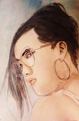 Ali Wong (Utopist) Tags: watercolour watercolor ali wong comedienne portrait women