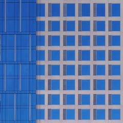 Graphic Architecture (2n2907) Tags: abstract architecture glass office building windows skyscraper graphic geometric geometry pattern lines graphical design blue grid array squares square facade