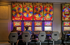 "It's just crazy money, right?"" -Las Vegas 0032 (cbonney) Tags: las vegas nevada flamingo hotel casino slot machines crazy money one armed bandits"