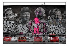 STREET ART by LUAP & DONK (StockCarPete) Tags: donk luap pinkbear pasteups london uk tags graffiti shoreditch shoreditchart
