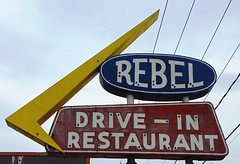 TN, Cleveland-U.S. 11(Old) Rebel Drive-In Ghost Neon Sign