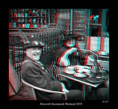 100 Haworth Steampunk 19 bw (3dbeadyeyes2) Tags: haworth steampunk weekend 2019 howarthsteampunkweekend2019 3d anaglyph