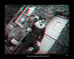 095 Haworth Steampunk 19 bw (3dbeadyeyes2) Tags: haworth steampunk weekend 2019 howarthsteampunkweekend2019 3d anaglyph