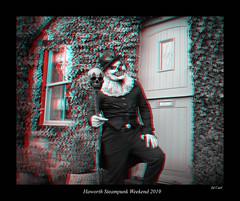 093b Haworth Steampunk 19 bw (3dbeadyeyes2) Tags: haworth steampunk weekend 2019 howarthsteampunkweekend2019 3d anaglyph
