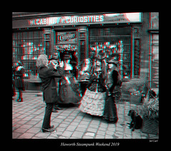 083b Haworth Steampunk 19 bw (3dbeadyeyes2) Tags: haworth steampunk weekend 2019 howarthsteampunkweekend2019 3d anaglyph