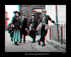 082 Haworth Steampunk 19 bw (3dbeadyeyes2) Tags: haworth steampunk weekend 2019 howarthsteampunkweekend2019 3d anaglyph