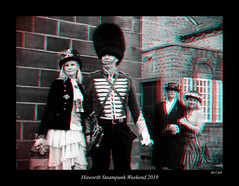 054 Haworth Steampunk 19 bw (3dbeadyeyes2) Tags: haworth steampunk weekend 2019 howarthsteampunkweekend2019 3d anaglyph