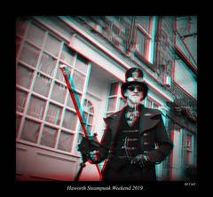 019 Haworth Steampunk 19 bw (3dbeadyeyes2) Tags: haworth steampunk weekend 2019 howarthsteampunkweekend2019 3d anaglyph