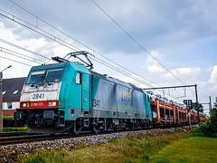 LINΞΛS 2841 (E-Drivers) met Gefco-autotrein @ Kermt (Avinash Chotkan) Tags: