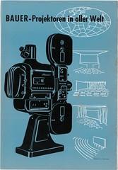 Vintage Print Ad: Bauer U2 (Sandwood.) Tags: vintage ad print projector projektor baueru2 35mm 70mm nostalgia 1959 1950s blue black movie theater old filmprojektor eugenbauer technology kino kinobauer werbung alt technik