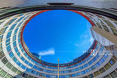 BBC Television Centre, White City, London, UK (davidgutierrez.co.uk) Tags: london photography davidgutierrezphotography city art architecture nikond810 nikon urban travel color night blue photographer tokyo paris bilbao hongkong uk skyscraper bridge londonphotographer colors colour colours colourful vibrant england unitedkingdom 伦敦 londyn ロンドン 런던 лондон londres londra europe beautiful cityscape davidgutierrez capital structure britain greatbritain ultrawideangle afsnikkor1424mmf28ged 1424mm d810 arts street streetphotography 倫敦 bluesky sky clouds bbctelevisioncentre whitecity bbc televisioncentre
