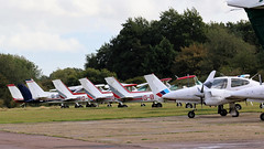 LINE UP OF AIRCRAFT STAPLEFORD AIRFIELD (toowoomba surfer) Tags: aircraft aviation aeroplane