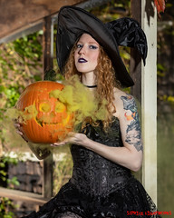 Season of the Witch (S1Price Lightworks) Tags: witch costume cosplay halloween 2019 pumpkin smoke canon eos r portrait gothic hat black corset