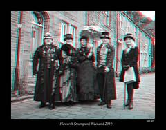 103 Haworth Steampunk 19 bw (3dbeadyeyes2) Tags: haworth steampunk weekend 2019 howarthsteampunkweekend2019 3d anaglyph