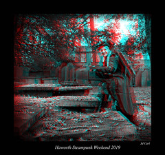 039 Haworth Steampunk 19 bw (3dbeadyeyes2) Tags: haworth steampunk weekend 2019 howarthsteampunkweekend2019 3d anaglyph