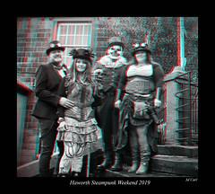 033 Haworth Steampunk 19 bw (3dbeadyeyes2) Tags: haworth steampunk weekend 2019 howarthsteampunkweekend2019 3d anaglyph