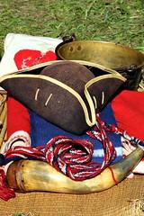 COLONIAL TRINKETS (MIKECNY) Tags: tricorneredhat powderhorn trinkets blanket americanrevolution schoharie schoharievalley reenactment