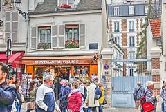 village on a hill (albyn.davis) Tags: paris france europe travel montmartre people buildings architecture tourists colors windows