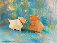 Puppy (mancinerie) Tags: origami paperfolding papiroflexia papierfalten paper francescomancini mancinerie origamidog origamipuppy