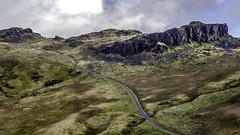Snowdonia - escarpment (d) (iantanky) Tags: snowdonia wales welsh landscape landscapephotography light vlog vlogger vlogging youtube drone mavic mavic2 mavicpro mountain rocks leadinglines