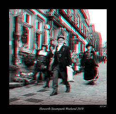 091 Haworth Steampunk 19 bw (3dbeadyeyes2) Tags: haworth steampunk weekend 2019 howarthsteampunkweekend2019 3d anaglyph