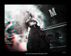 007 Haworth Steampunk 19 (3dbeadyeyes2) Tags: haworth steampunk weekend 2019 howarthsteampunkweekend2019 3d anaglyph