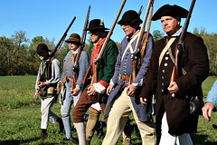 MARCHING ALONG (MIKECNY) Tags: troops march soldier colonists americanrevolution rifle musket schoharie schoharievalley
