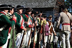 ASSEMBLYING THE TROOPS (MIKECNY) Tags: troops assemble soldier colonists militia reenactment reenactor schoharie schoharievalley rifle musket americanrevolution