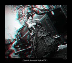 007 Haworth Steampunk 12 bw (3dbeadyeyes2) Tags: haworth steampunk weekend 2019 howarthsteampunkweekend2019 3d anaglyph