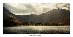 Buttermere Sentinels (Simon Lathlane) Tags: buttermere sentinels pines lake district backlit light water