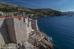 Dubrovnik Walls (PapaPiper) Tags: dubrovnik citywalls sea seascape rugged croatia europe walls rocks blue