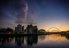 Tyne Twilight (ianrwmccracken) Tags: baltic buidling sky england art rivertyne cloud twilight bridge centre sony a6000 landscape reflection dusk