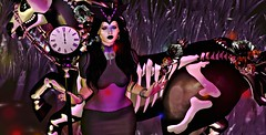 Immortal. (OSunshinezO) Tags: sugarskull skull immortal time secondlife slavatar sl shadows scary vampire halloween witch witches witchy horse avatars fashion fantasy groupgifts