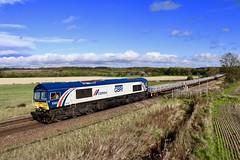 66780 Slitting Mill UWC 18 Oct 19 (doughnut14) Tags: 66780 cemex 6x01 rail freight diesel loco sleepers scunthorpe eastleigh slitting cum gbrf oldroad express midland derbyshire