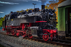 a wonderful steam locomotive 86 1333-3 (Peters HDR hobby pictures) Tags: petershdrstudio hdr steamlocomotive locomotive br86 train lokomotive dampfzug dampflok zug personenzug eisenbahn railway black schwarz