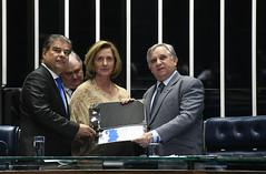 Plenário do Senado (Senado Federal) Tags: plenário sessãoespecial comemoração homenagem diadomédico medicina certificado draanapaulafurtado senadornelsinhotradpsdms senadorizalcipsdbdf brasília df brasil