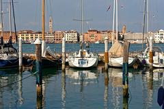 Venice from San Giorgio Maggiore (Pantchoa) Tags: venise vénétie italie europe sangiorgiomaggiore eau bateaux voiliers reflets réflexions perspective