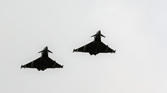 PAIR TYPHOONS FLYPAST CONINGSBY (toowoomba surfer) Tags: jet aeroplane aircraft aviation raf