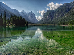 Riflessi della natura. (iw2ijz) Tags: lago di dobbiaco lake montagne mountain bolzano alta val pusteria trentino alto adige italia italy lumix panasonic gx8 12mm olympus natura