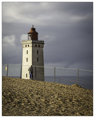 Maybe our last goodbye! - Hope to see you again - old friend (niels.daugaard) Tags: rugbjerg knude fyr oprindelig placering original location før flytning before relocation denmark danmark lighthouse hav sea sand