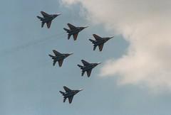 101 (IndiaEcho) Tags: aircraft aviation aeroplane airport airfield 106 101 102 103 104 force air royal international ukrainian raf 108 ffd fairford mikoyan riat mig29 egva tattoo