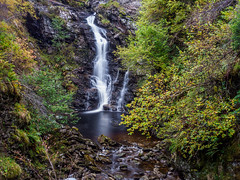 Corrimony Falls (Highlandscape) Tags: iainmacdiarmid ferns riverenrick damp outdoor rural weather rocks unitedkingdom highland waterfall em1markii glenurquhart highlandscapezenfoliocom flow autumn moss natural birch highlands water hazel corrimonyfalls fall colour trees corrimony ecosse scotland cascade beauty october countryside hill glen river landscape 2019 olympus highlandscape