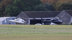 PAIR OF HELICOPTERS STAPLEFORD AIRFIELD (toowoomba surfer) Tags: helicopter aviation