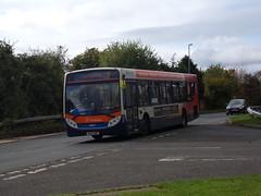 Stagecoach ADL Enviro 300 (Scania K320UB) 28627 KX12 AMU (Alex S. Transport Photography) Tags: bus outdoor road vehicle stagecoach stagecoachmidlandred stagecoachmidlands adlenviro300 enviro300 e300 scania k320ub route2branding route2 28627 kx12amu