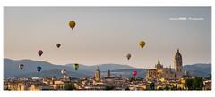 Segovia (Ignacio Ferre) Tags: globo balloon aerostato segovia españa spain paisaje landscape dawn amanecer nikon