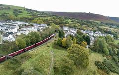 66070 past Bedlinog (robmcrorie) Tags: 66070 bedlinog bargoed valley wales welsh cwmbargoed 1z10 phantom 4 coal margam 6c93